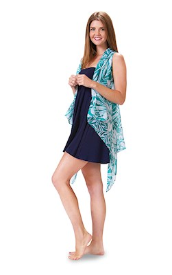 Tropical Teal Essential Cover Up