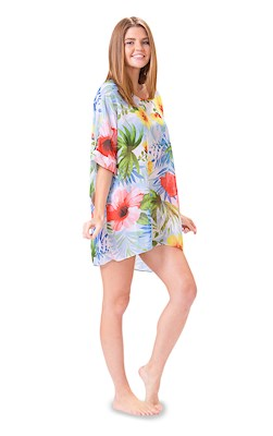 Tropical Breeze Scoop Neck Cover Up
