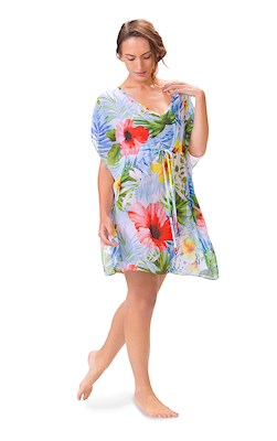 Tropical Breeze Drawstring Cover Up