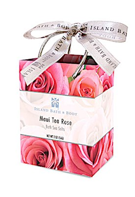2 oz. Bath Sea Salt Bags, Maui Tea Rose ORG