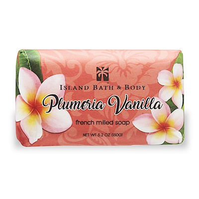 150g French Milled Soap, Plumeria Vanilla CON
