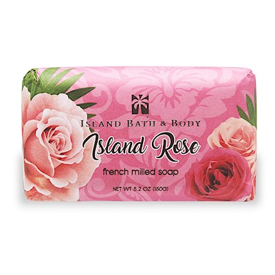 150g French Milled Soap, Island Rose CON