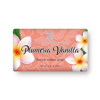 70g French-Milled Soap, Plumeria Vanilla CON