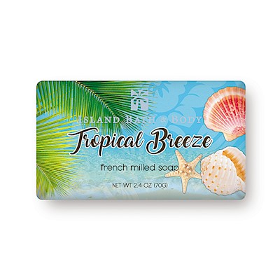 70g French-Milled Soap, Tropical Breeze CON
