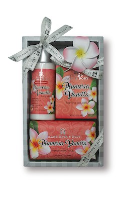 Contemporary Island Bath & Body Gift Set 2 oz.- Plumeria Vanilla