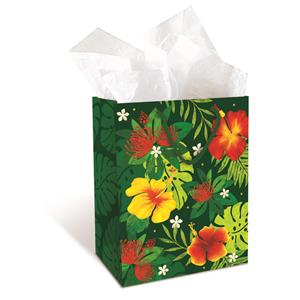 Medium Gift Bag,- Floral Monstera -