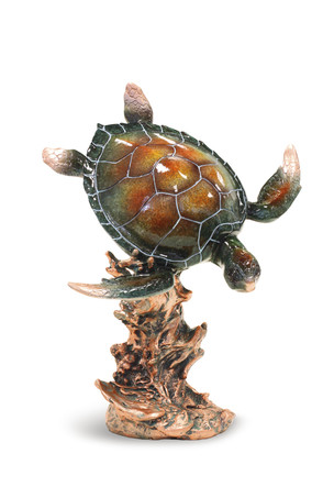 Diving Honu Marine Life Figurine