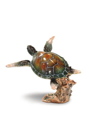 Swimming Honu Marine Life Figurine