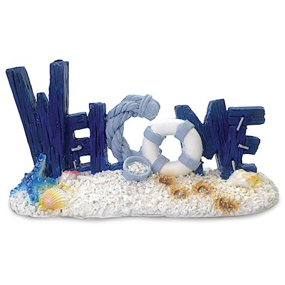 Coastal Polyresin Figurine, Welcome