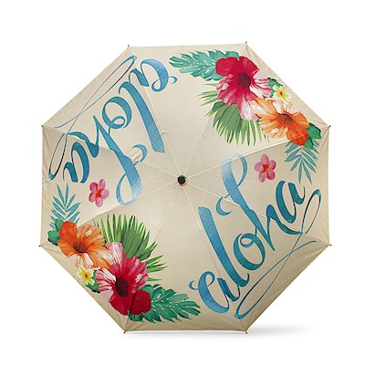 Inverted Umbrella in Aloha Floral