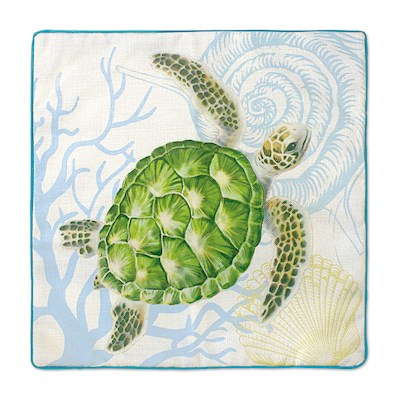 Coastal Pillow Cover, Honu Voyage