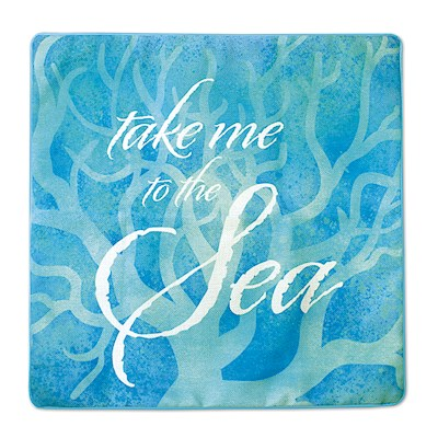 Coastal Pillow Cover, Take Me to the Sea
