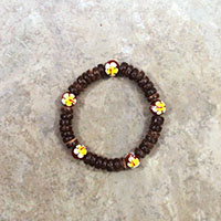 Elastic Coco & Wood, Yellow *