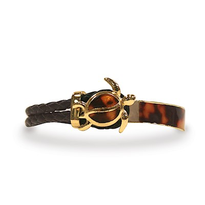 Leather Bracelet, Honu