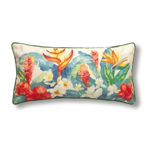 Cotton Linen 20x10 Pillow, Heliconia