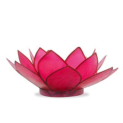 Capiz Tealight Holder Lotus - Pink