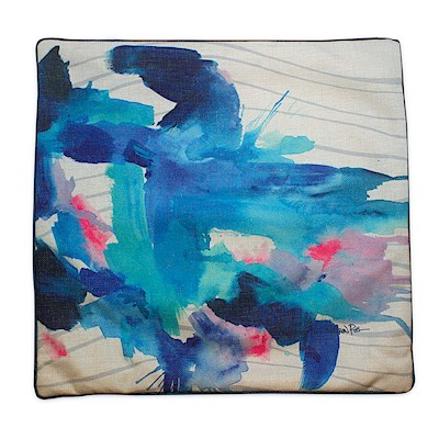 LAUREN ROTH PILLOW COVER - OCEAN SPLASH