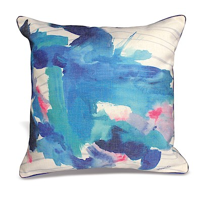 LAUREN ROTH PILLOW - OCEAN SPLASH