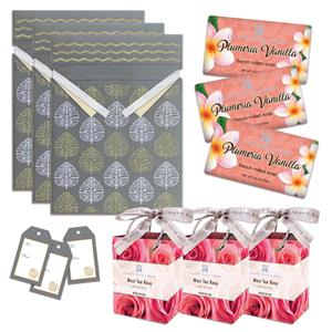 Plumeria Vanilla Soap & Maui Tea Rose Bath Salts Gift Kit
