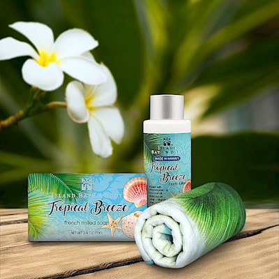 Tropical Breeze Island Bath & Body Mini Spa Gift Set