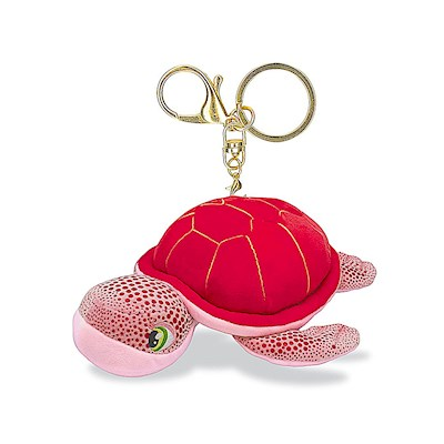 Plush Key Chain, Honu Pink