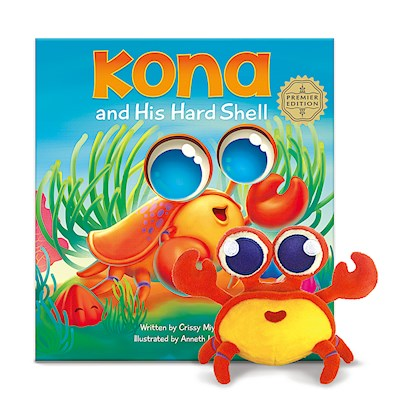 Book & Plush Set, Kona the Crab
