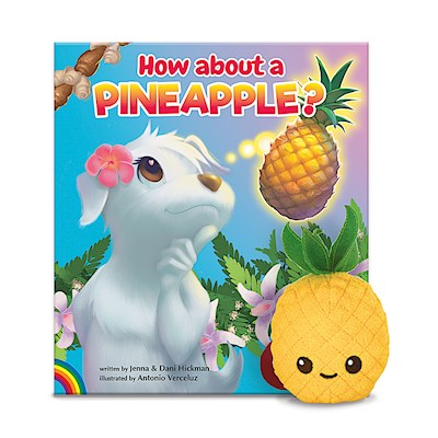 Book & Plush Set, Pineapple