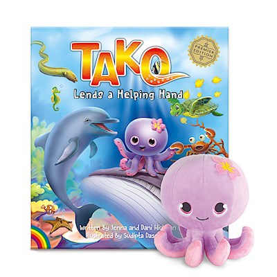 Tako Book & Plush Set