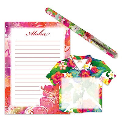 Stationery Gift Set, Island Blossoms