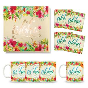 Aloha Floral Holiday Décor Gift Set