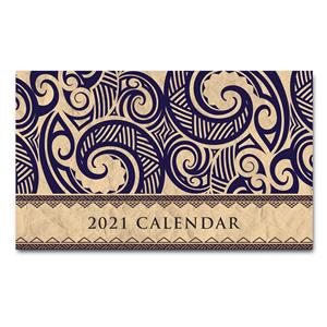 2021 Pocket Calendar, Tribal - Tan