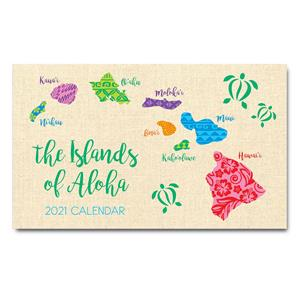2021 Pocket Calendar, Islands of Aloha