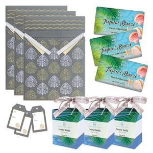 Tropical Breeze Soap & Coconut Vanilla Bath Salts Gift Kit