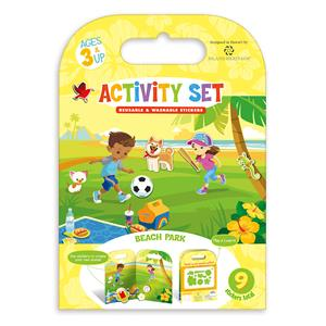 Reusable & Washable Sticker Activity Book - Beach Park