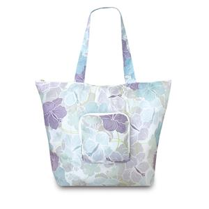 Modern Hibiscus Deluxe Foldable Tote