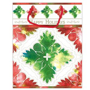 Large Gift Bag, Quilted Holidays