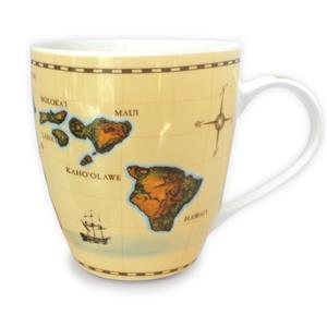 18 oz. U-shape Mug, Islands of Hawaii - Tan