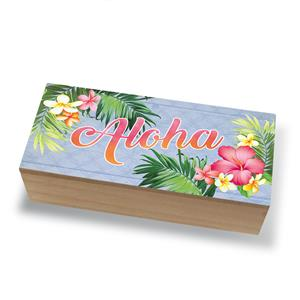 Coastal Wood Box, Aloha Palm