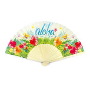 Island Fabric Fan, Aloha Floral