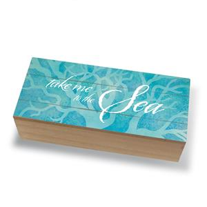 Coastal Wood Box, Take Me to the Sea