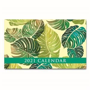 2021 Pocket Calendar, Monstera - Yellow