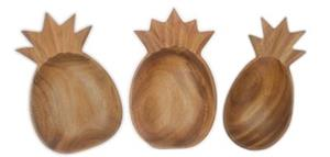 Wood Serveware, Set of 3 Pineapple Bowls
