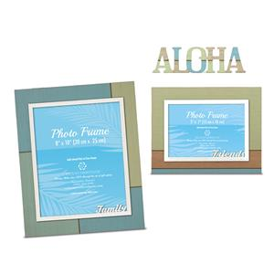 Hand Painted Wood Photo Frame Set - Friends & Family