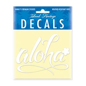 Decal Small Oblong, Aloha Floral White