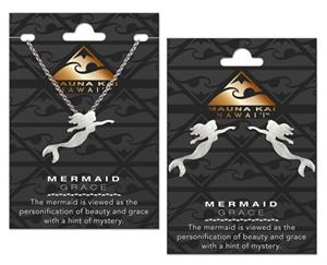 Mermaid Silver Charm Earring & Necklace Set