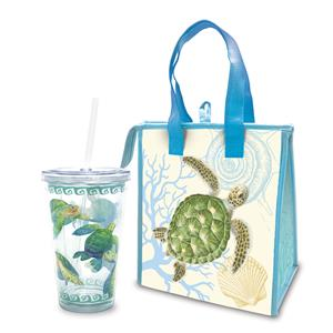 Swimming Honu Tote & Tumbler Gift Set