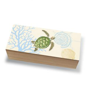 Coastal Wood Box, Honu Voyage