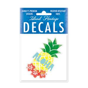 Decal Square, Pineapple Aloha