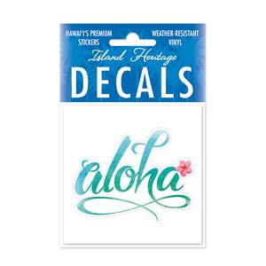 Decal Small Oblong, Aloha Floral