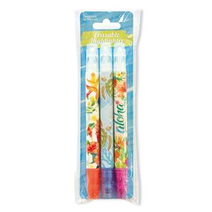 Erasable Highlighter Pens, Island Garden/Honu Voyage/Aloha Floral (Set 1)
